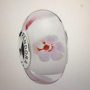 Pandora Pink Cherry Blossom Murano Charm